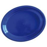 Блюдо сервировочное цвет синий Marine Blue, 5 шт
