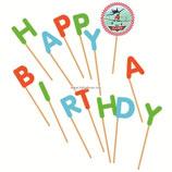 """AO1 Свечи в торт буквы """"Happy Birthday"""", Самолеты"""