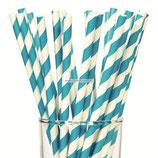 A0 Трубочки бумажные Полоски голубые