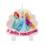 """AO2 Свеча в торт """"С днем рождения"""", Принцессы Дисней, объемная"""
