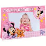 """01  Фотоальбом-открытка на 8 фото """"Малышка Минни"""""""