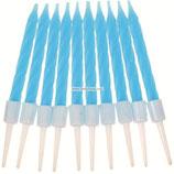 AO1 Свечи тонкие в торт, голубые, (набор 10 шт)