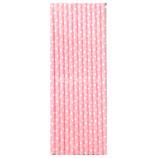 A0 Трубочки бумажные Горох мелкий, розовые