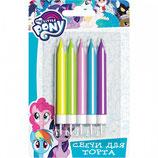 AO1 Свечи Мой маленький пони, 5шт, разноцветные, 6,5см