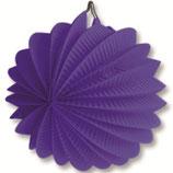 02 Фонарик фиолетовый круглый бумажный