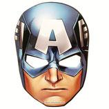 """00 Маска карнавальная """"Капитан Америка"""", Мстители, 1 шт."""