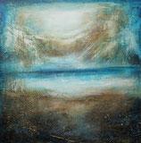 Abstractes Gemälde, Landschaft Abstract, Handgemalt, Unikat