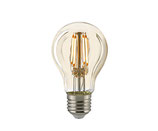 LED Normallampe, E27, Filament Gold, Dimmbar