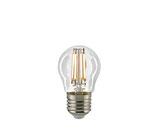 LED Kugellampe, E27,  Filament, Dimmbar, Klar