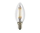 LED Kerzenlampe, E14, Filament, Dimmbar, Klar