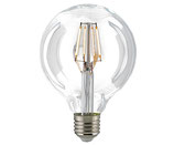 LED Globelampe Filament, E27, 95mm, Dimmbar, Klar