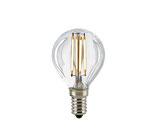 LED Kugellampe, E14, Filament, Dimmbar, Klar