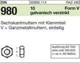 DIN 980 Stopmutter Ganzmetall vz