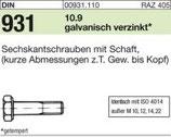 DIN 931 Sechkantschraube 10.9/12.9