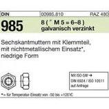 DIN 985 Stopmutter vz