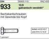 DIN 933 Sechskantschraube 10.9 /12.9