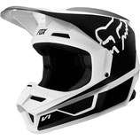 fox racing V1 PRIX HELMET black/white