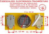 Codeschloss elektronisch Tresorschloss