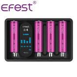 Chargeur Efest iMate R4 USB 4 baies - Li-ion IMR, Ni-MH et Ni-Cd