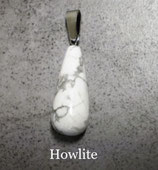 Pendentif goutte en howlite
