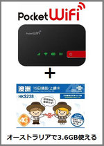 オーストラリア用WiFiルーター+SIMセット