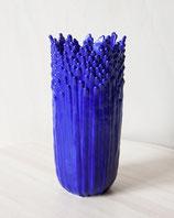 Vase ascensionnel floral épanoui bleu électrique