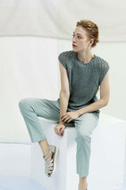 Pullover ohne Ärmel mit Lang Yarns JANET gestrickt