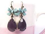 Ohrhänger «Pflaume» Violett & Mint