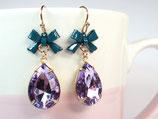 Ohrhänger «Lavendellied» Lila & Petrol
