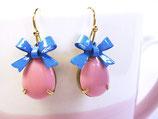 Ohrhänger klein «Blue Sky» Pink & Blau