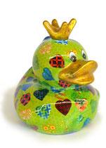 Ente grün mit Herzen