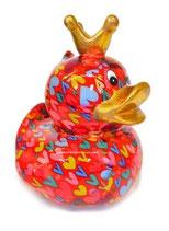 "Big ""Ducky""  rot mit Herzen"