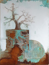 Baum silber, Reuter 50 x 70 cm