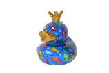 """Ente """"Ducky"""",  Pitit Pidou - blau mit Fischen"""