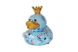 """Ente """"Ducky"""",  Pitit Pidou - blau mit Segelbooten und Meerestieren"""