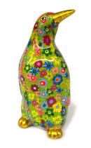 Pinguin grün mit Blumen