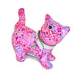 """Katze """"Kitty"""" pink mit Herzen und Schmetterlingen"""