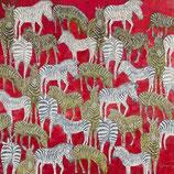 Zebras in rot