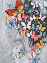 Butterfly Girl I - NEUHEIT Frühjahr 2020 - 70 x 100 cm