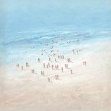 Beach, 100 x 100 cm