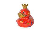 """Ente """"Ducky"""",  Pitit Pidou - rot mit Blumen"""