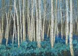 Bäume blau