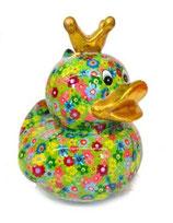 """Big """"Ducky"""" grün mit Blumen"""