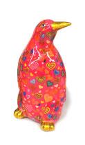 Pinguin pink mit Herzen