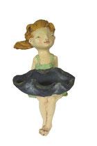 """Kantenhocker Mädchen """"Lea"""" mit Schale und grünem Kleid"""