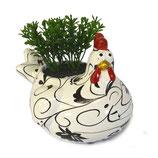 Huhn schwarz weiß
