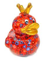 """Big """"Ducky"""" rot mit Blumen"""