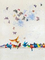 Vögel und Schmetterlinge