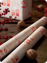 X.MAS WRAPPING PAPER BEIGE