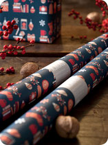 X.MAS WRAPPING PAPER BLUE